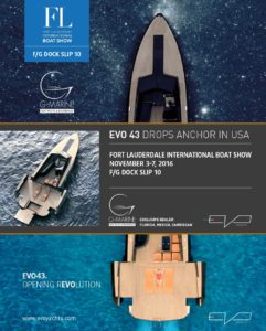 EVO 43 Fort Lauderdale Boat Show Locandina