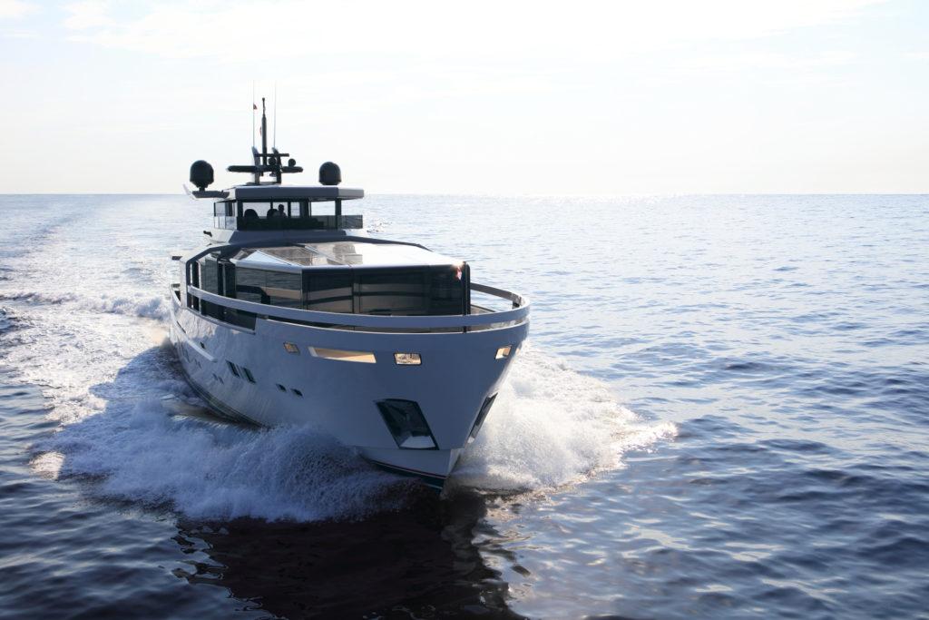Arcadia A100 Superyacht Running