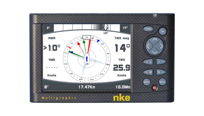 NKE Marine Electronics Display Multigrafico