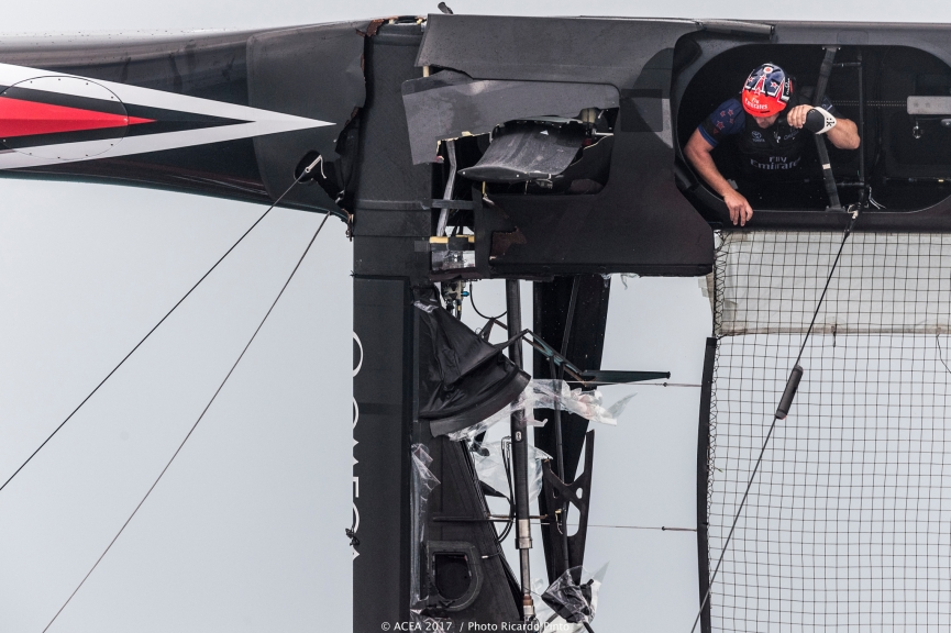 America's Cup Emirates New Zealand incidente