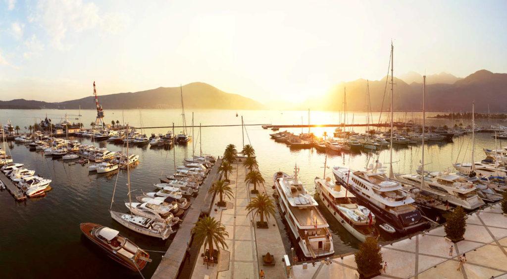 Porto Montenegro voli diretti dall'Italia per aeroporto Tivat