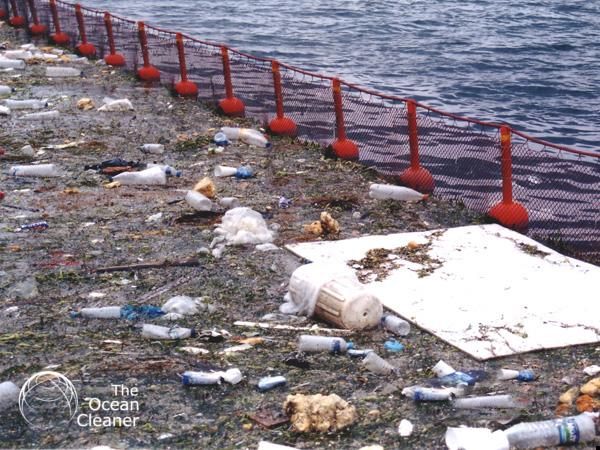 Ocean Cleaner Barriera Galleggiante rifiuti