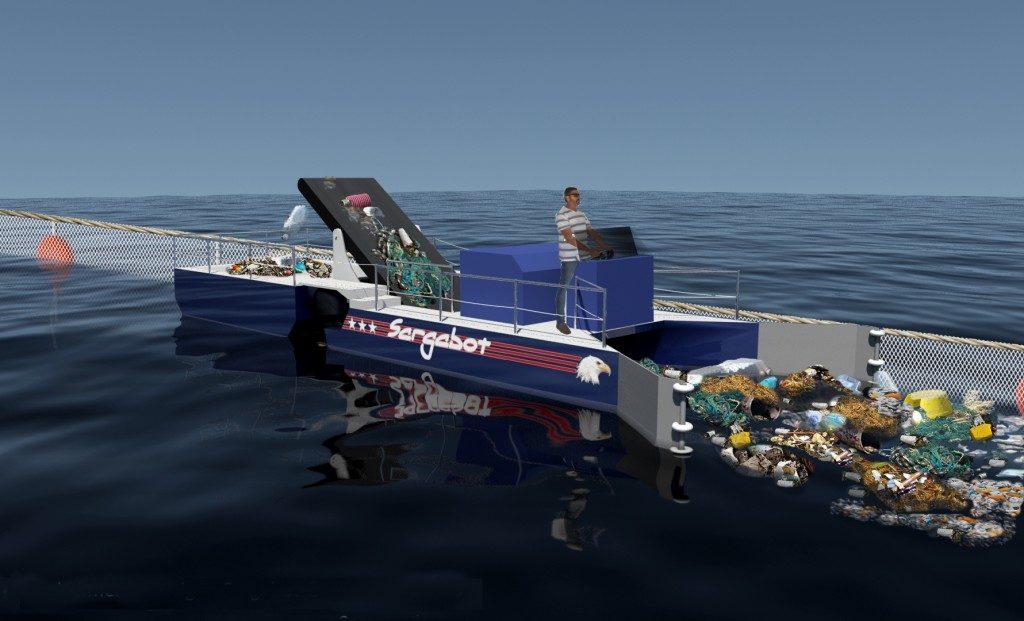 Ocean Cleaner Sargaboat