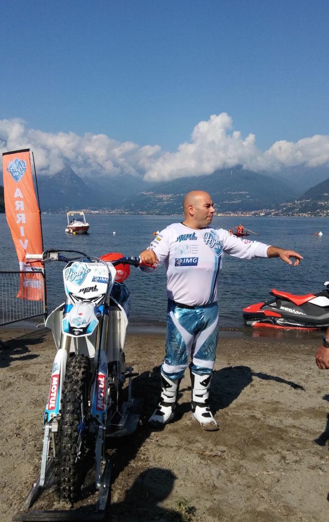 Luca Colombo Record mondiale lago di como