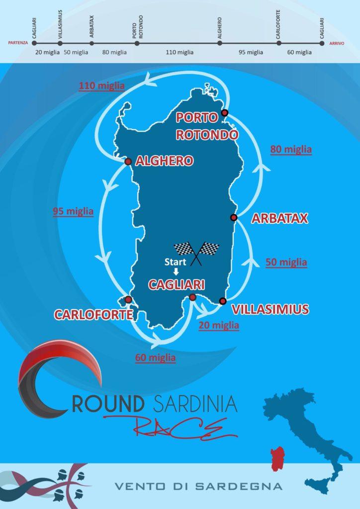 Round Sardinia Race 2017 Mappa tappe