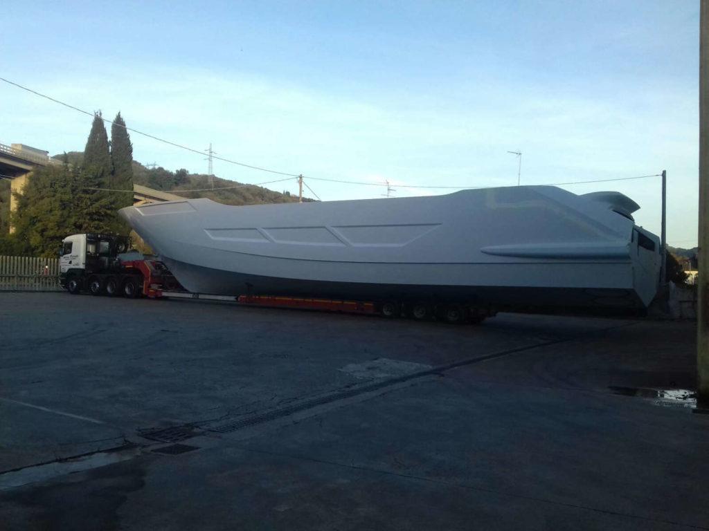 Amer 100 superyacht scafo