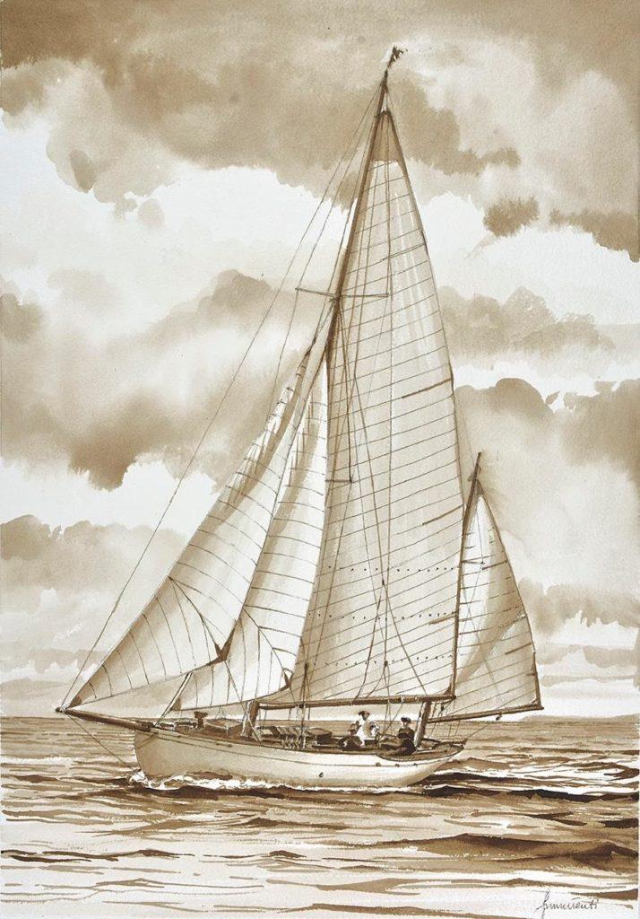 Barbara (1923) Acquerello di Emanuela Tenti
