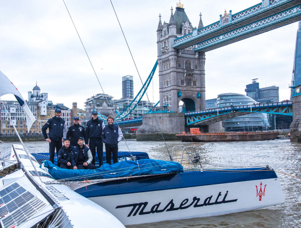 Soldini Maserati Multi70 Tea Route Record London