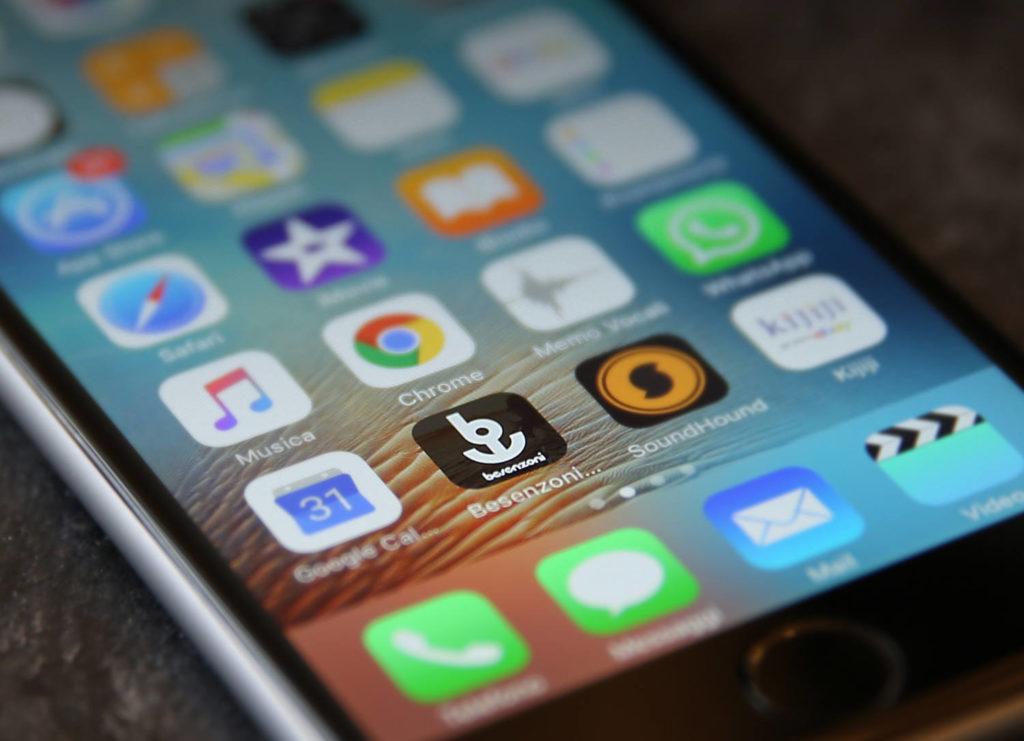 Besenzoni App passerella smartphone