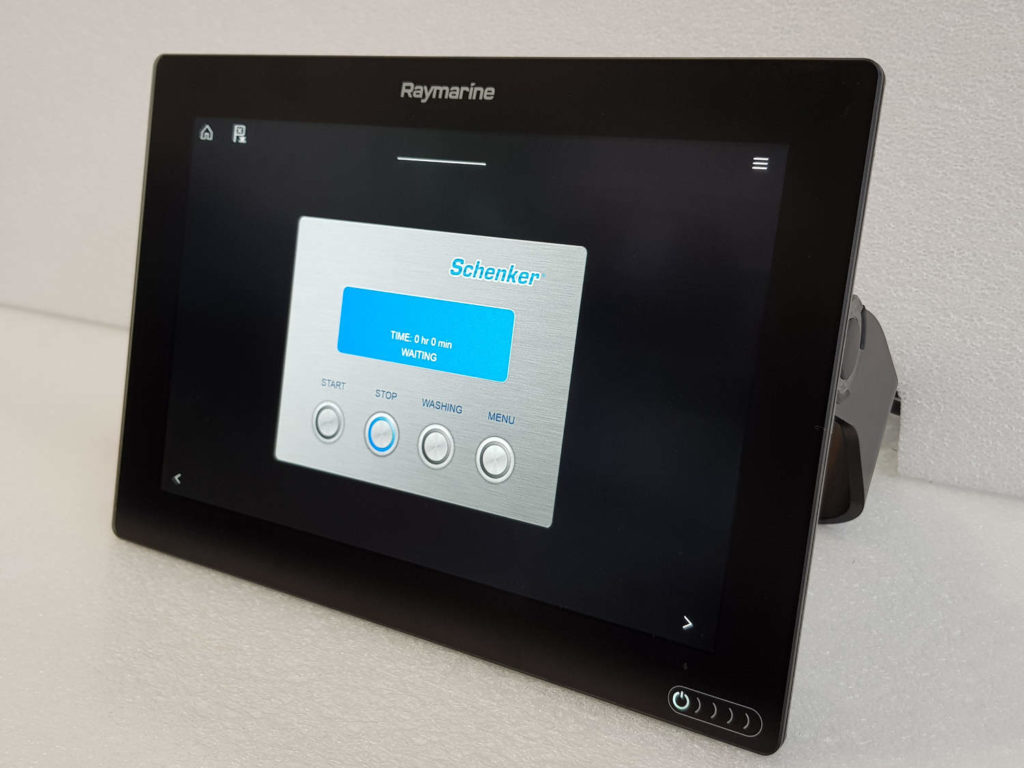 Schenker Raymarine dissalatore touchscreen